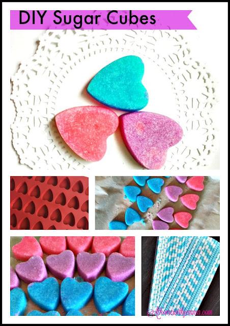 heart shape, shape sugar cubes, party ideas, bridal shower