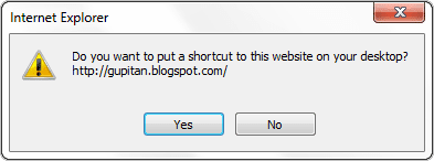 Cara Membuat Shortcut Website / Blog pada Desktop Windows