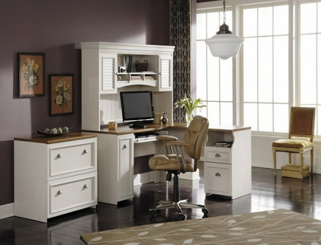 best buy white and wood office furniture sets for sale
