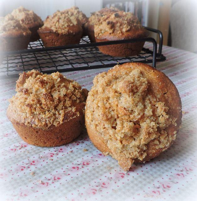 Crumb Topped Cornmeal Molasses Muffins