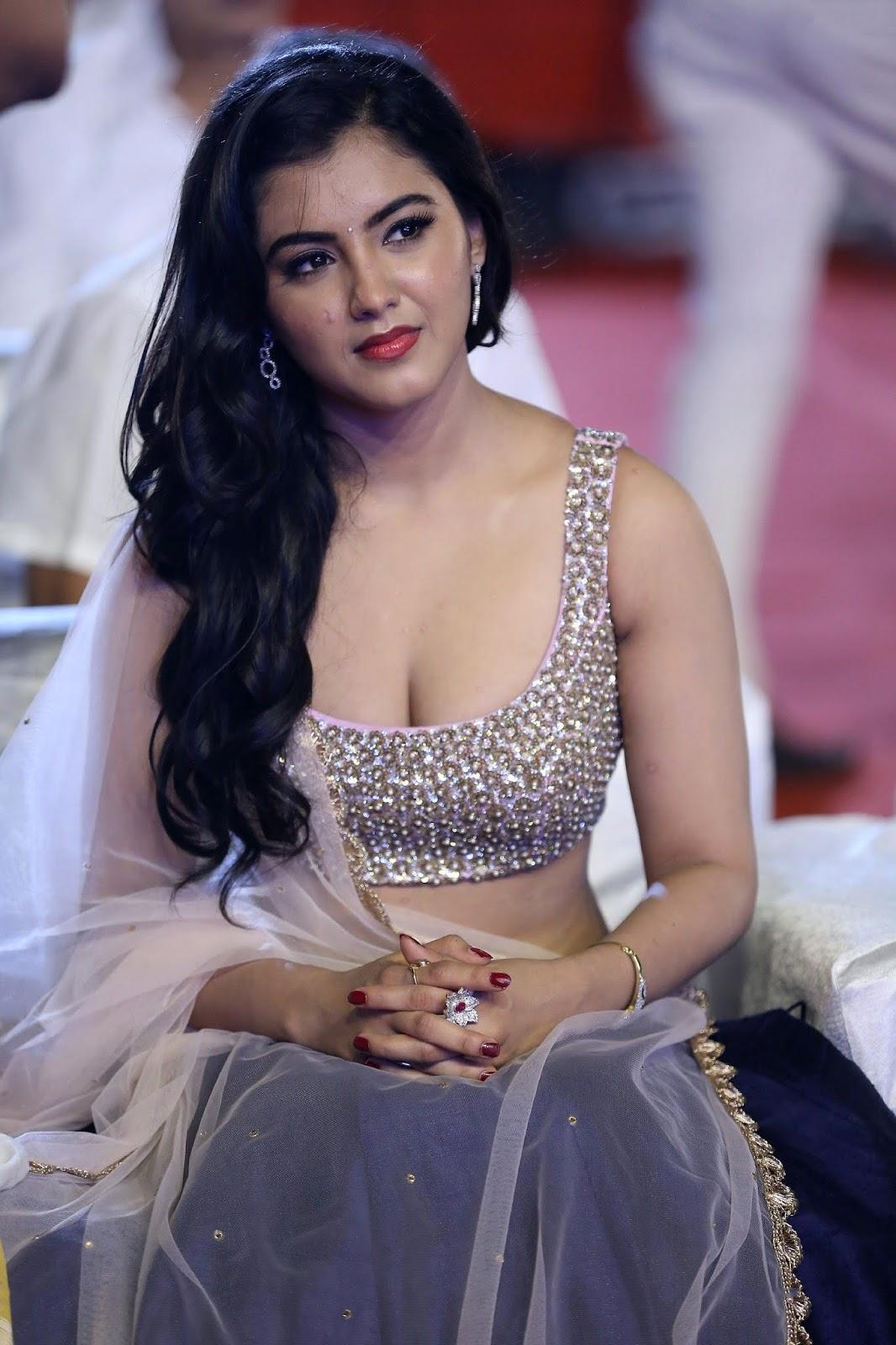 Malvika Sharma Looks stunning in a glittering backless Golden Choli and Ghagra