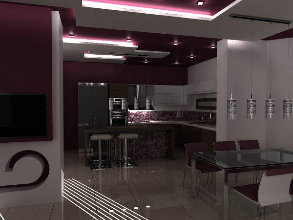 modern kitchen false ceiling design interior