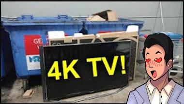 Reaction - 4K LG TV in a Dumpster!! (EEVBlog #1145)