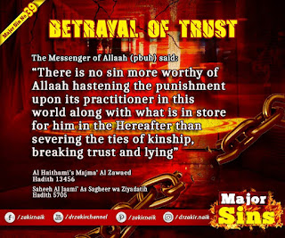 MAJOR SIN. 39. BETRAYAL OF TRUST