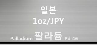 오늘 일본 팔라듐 1 온스(oz) 시세 : 99.95 팔라듐 1 온스 (1oz) 시세 실시간 그래프 (1oz/JPY 일본 엔)