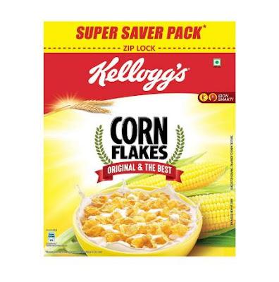 Kellogg's Corn Flakes Original Breakfast Cereal 875gms pack