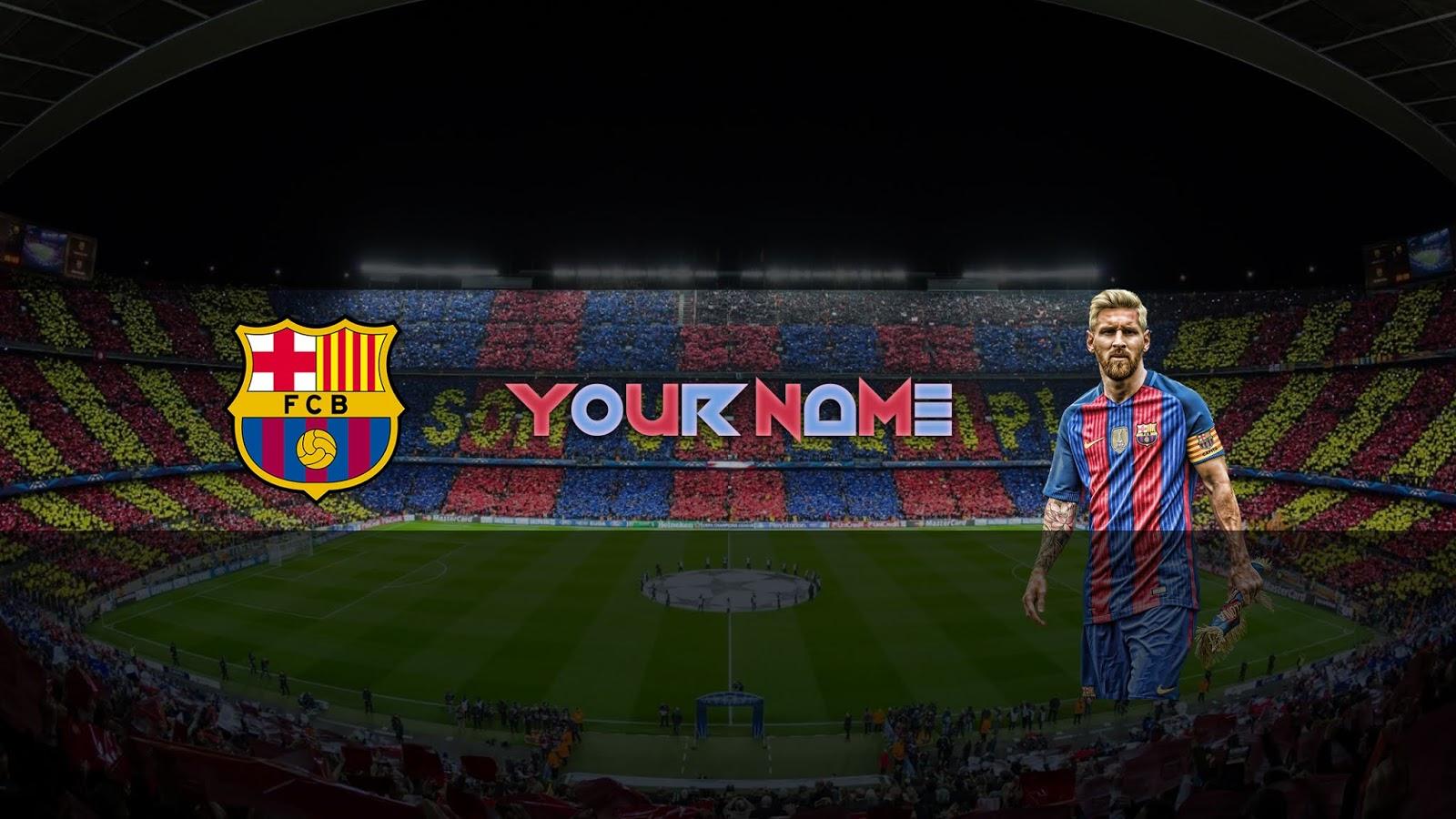 ZUHAIR BALOCH: FREE Football BARCA Banner Template #31