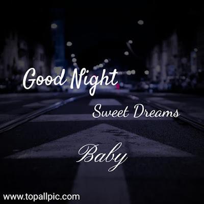 good night sweet dreams baby photo