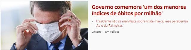 INFÂMIAS DA GLOBO E DOS COMPARSAS DE CRIMES PROVOCA ONDA DE SOLIDARIEDADE AO PRESIDENTE