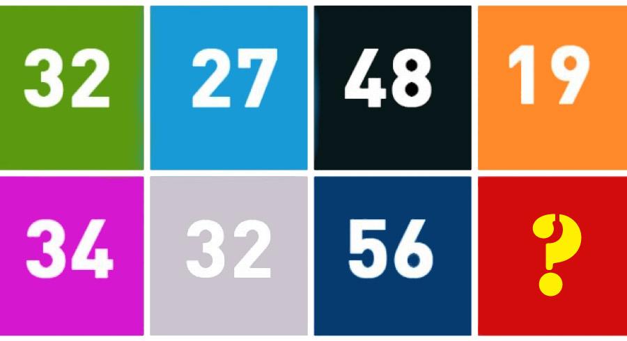 Reto: ¿Qué número corresponde al cuadrado rojo?