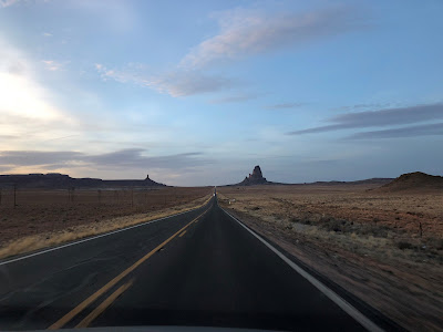 Approaching Monument Valley at Dusk
