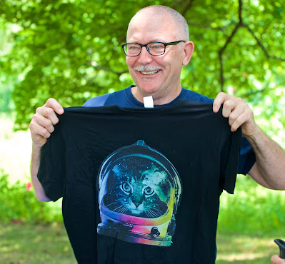 Jeff with new kittynaut shirt