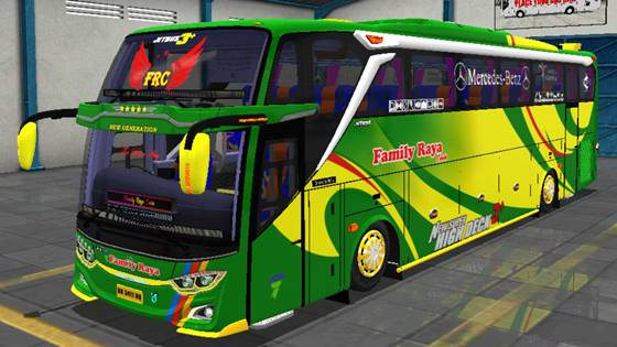 Livery JB3+ Mercedes Benz O500R FRC The Blue Sky