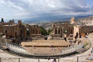 The Greek Theatre in Taormina is a regular venue for open-air concerts in the summer months