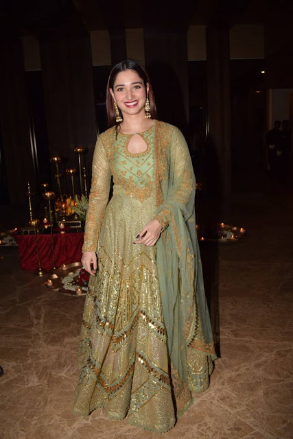 Tamanna Stills At Ramesh Taurani Diwali Party