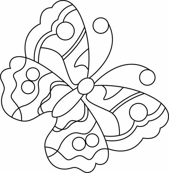 Tranh tô màu con bướm đơn giản