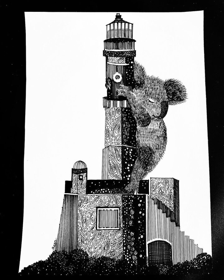 04-The-Koala-and-the-lighthouse-Sheen-www-designstack-co