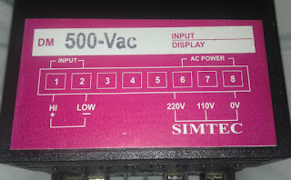 digital panel meter 0-500v connection