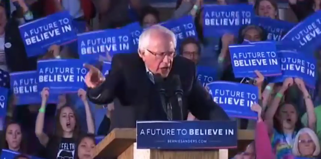 Bernie Sanders A Future to Believe In rally