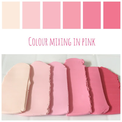 Colour Mixing Pink Hues at Lottie Of London
