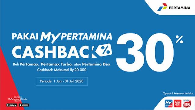 mypertamina cashback 30%