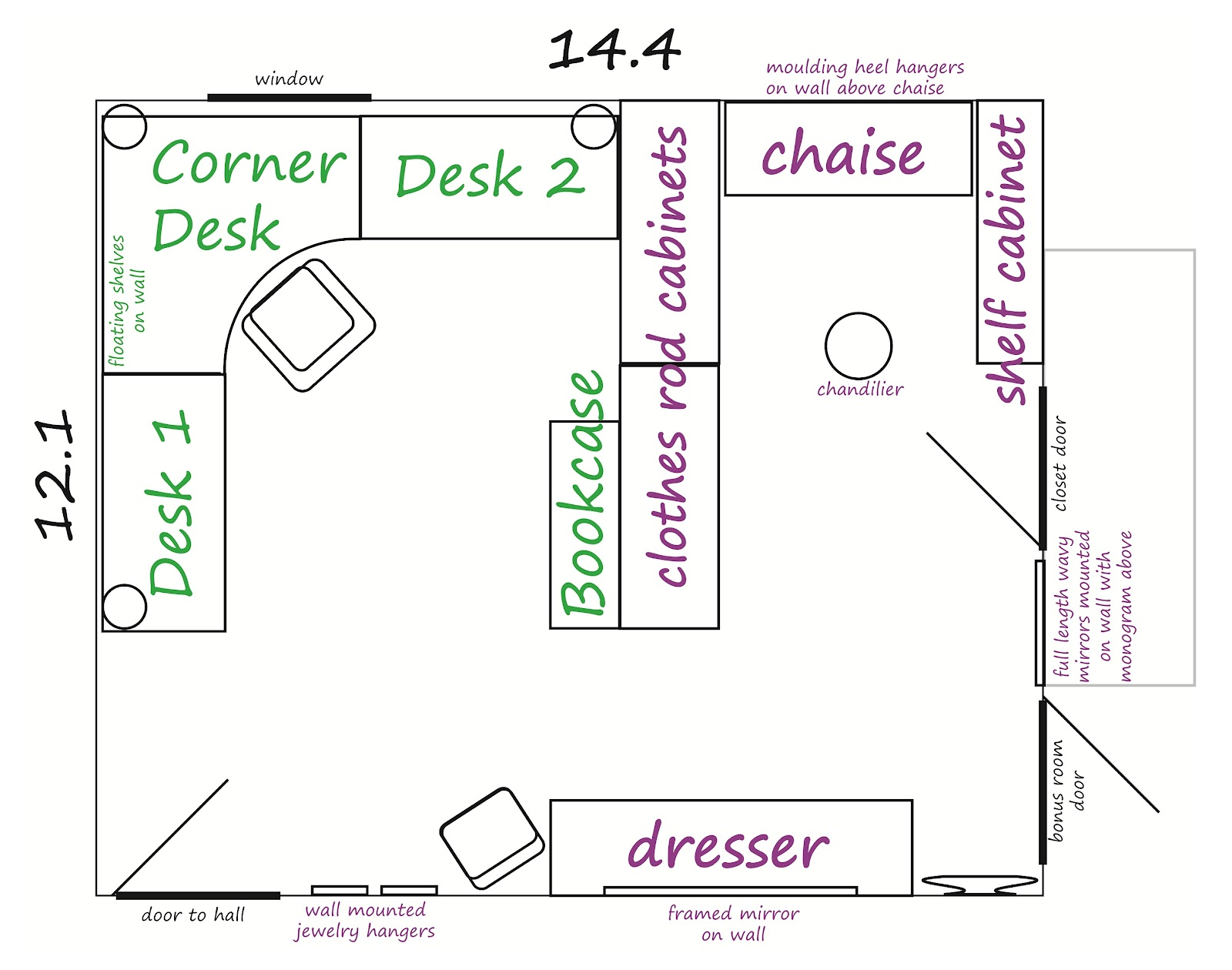 The Handcrafted Life Room Planning Home Office Craft