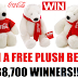 "Win a Coca-Cola Plush Polar Bear Instantly!! 38,710 Winners Win a 4"" Bear, 10 Grand Prize 30"" Bear Winners. Daily Entry, 12/9/19"