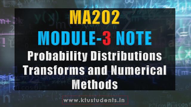 ma202 note module3