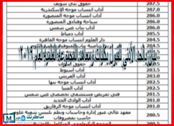 بوابة الحكومة المصرية نتيجة تنسيق المرحلة الثانية 2019
