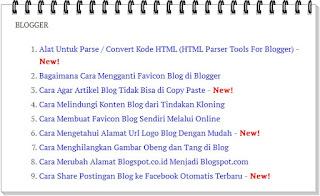 Sitemap atau Daftar Isi di Blog