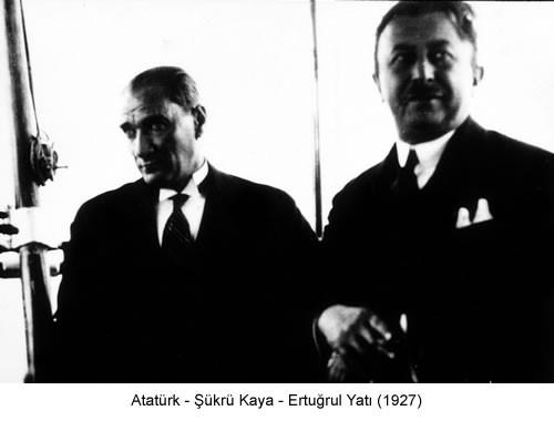 Atatürk Şükrü Kaya 1927 Fotoğraf