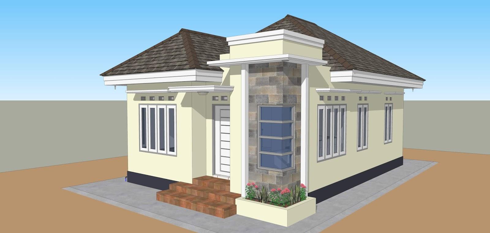 Desain Rumah 6x9 Meter 3 Kamar Tidur Atap Limas