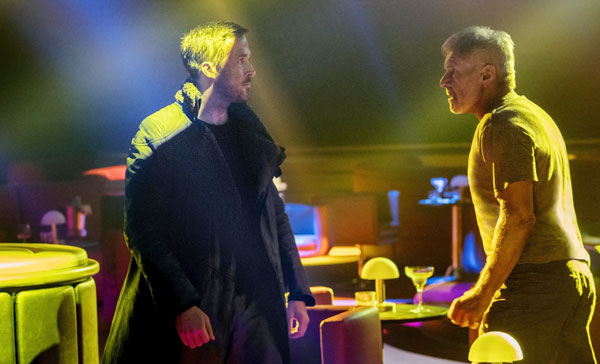 K (Ryan Gosling) and Deckard (Harrison Ford) goes face-to-face in BLADE RUNNER 2049