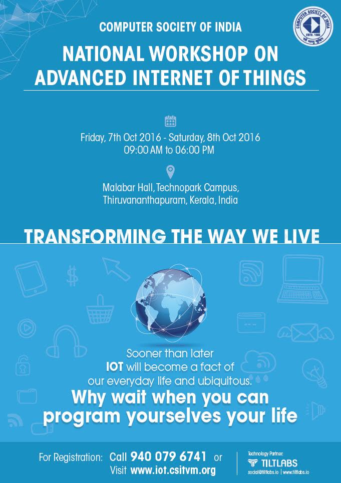 advanced internet of things workshop and seminar