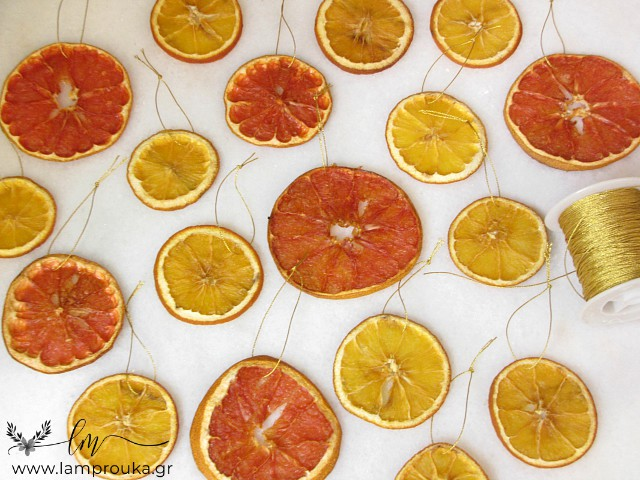 Αποξηραμένα πορτοκάλια.
