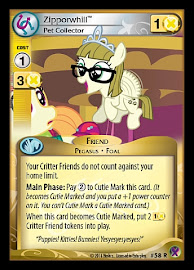 My Little Pony Zipporwhill, Pet Collector Marks in Time CCG Card