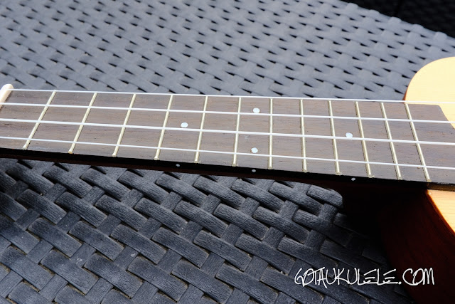 kahuna laser etched soprano ukulele neck