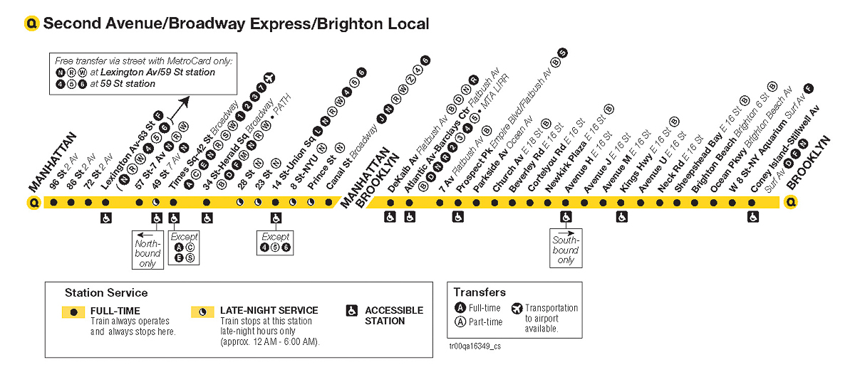 Q Line Subway Map.The Launch Box