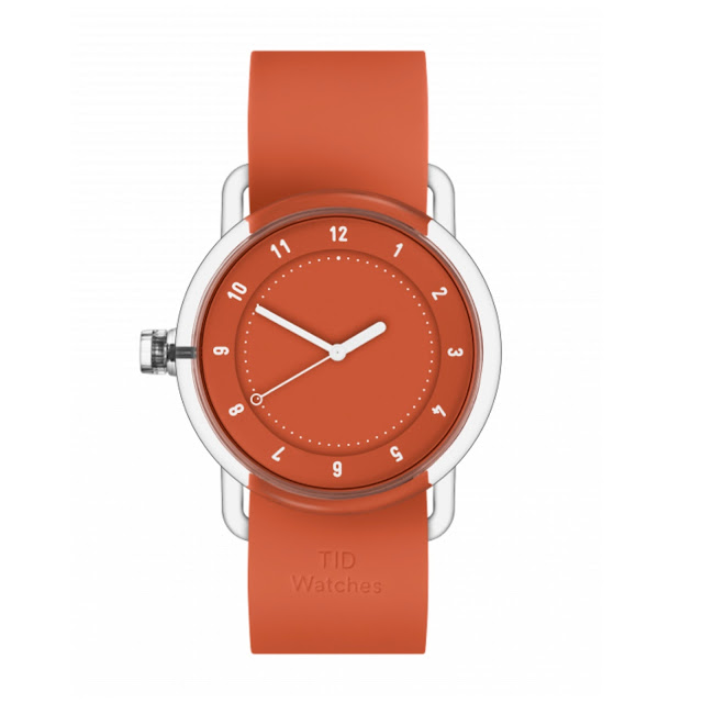 Red No.3 timepiece from TID.