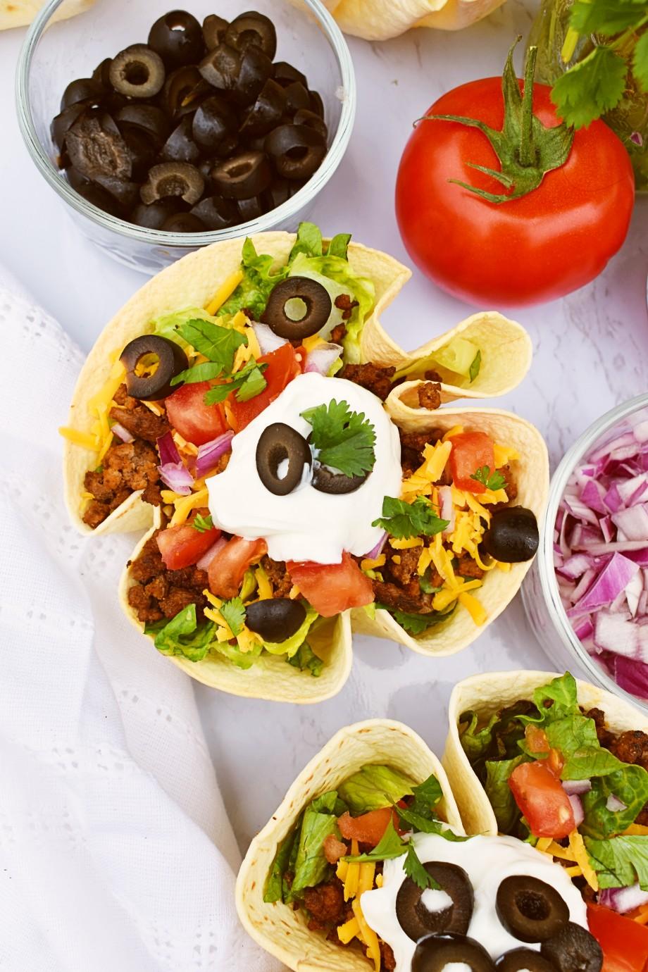 Easy Taco Salad Bowls
