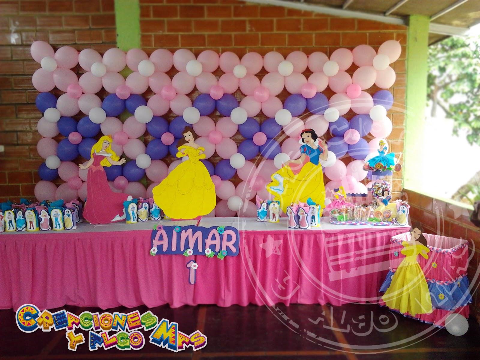 Fiesta motivo princesas disney disney princess party - Fiestas infantiles princesas disney ...