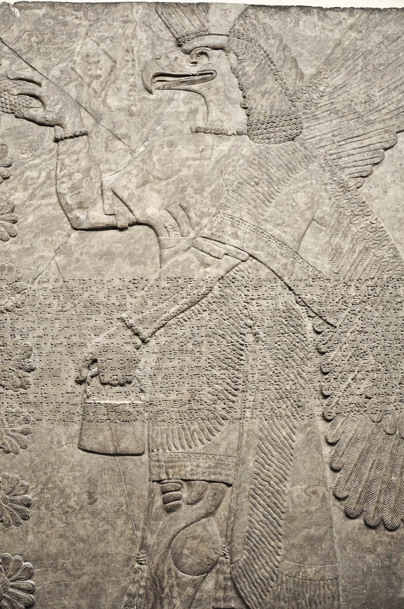 Eagle-headed protective spirit, Assyria, The British Museum, London, UK