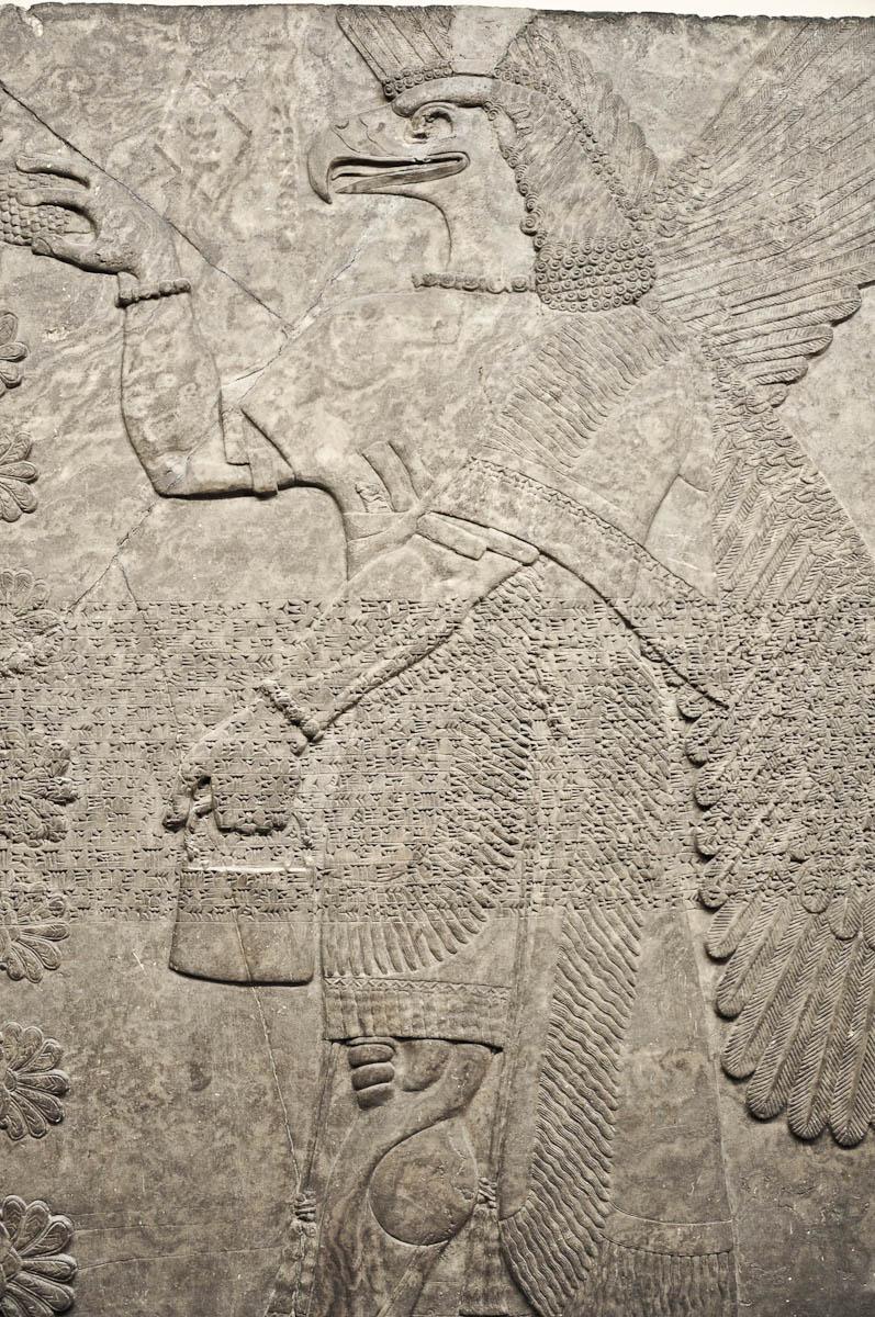 Eagle-headed protective spirit, Assyria, The British Museum, London, UK