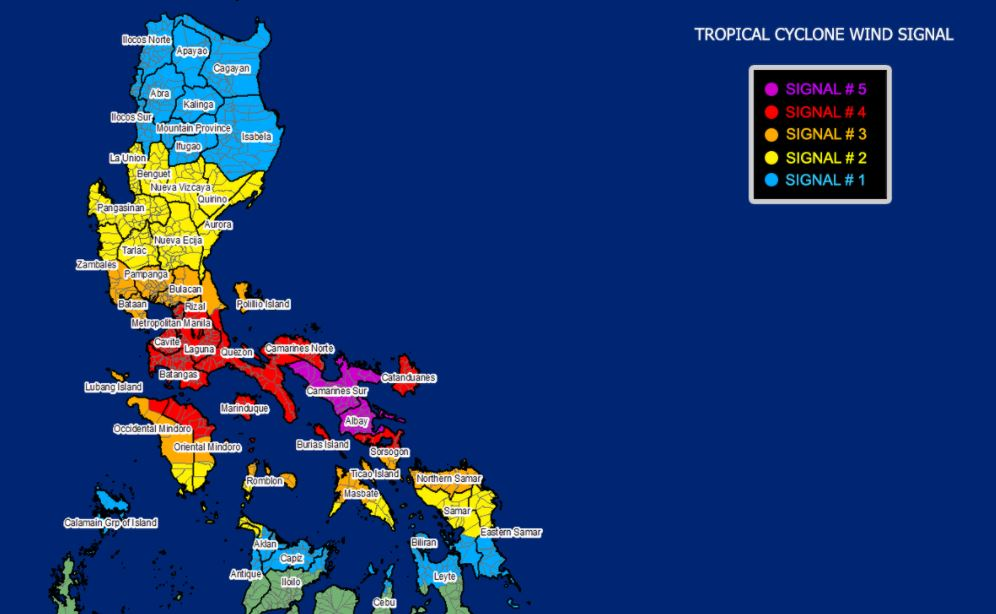 Super Typhoon 'Rolly' makes second landfall over Tiwi, Albay