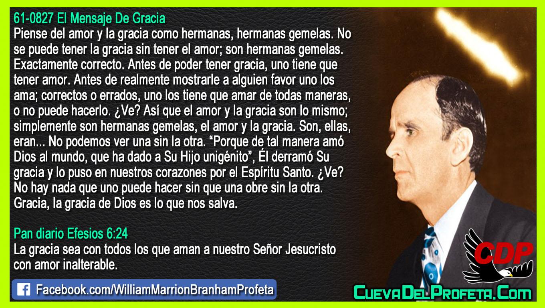 La gracia de Dios es lo que nos salva - William Branham en Español