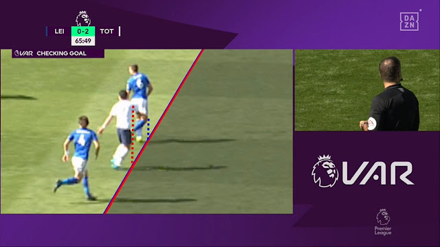 Son Heung-min was adjudged offside by VAR to deny Tottenham a 2-o lead at Leicester