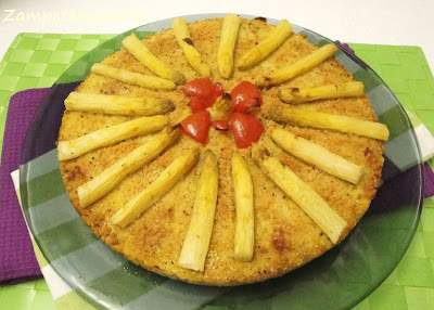 Torta di patate, cipollotti e asparagi - Ricetta con verdure