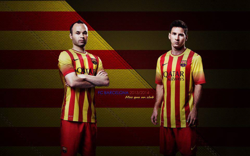42d8e8d42 Andres Iniesta and Lionel Messi New 2014 Wallpaper HD
