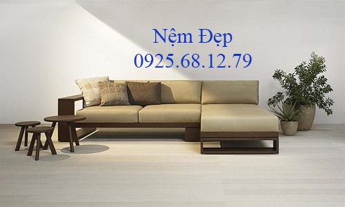 bọc nệm ghế sofa gỗ 026
