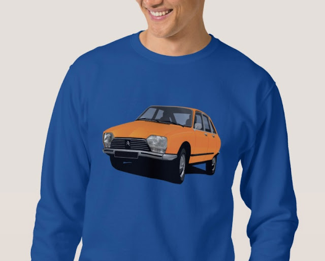 CItroën GS - retro style illustration - car t-shirts